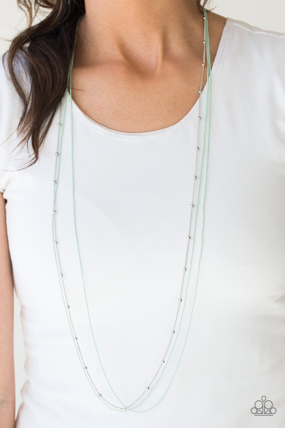 Colorfully Chic - green - Paparazzi necklace