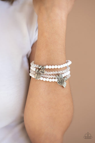 Colorfully Cupid-white-Paparazzi bracelet