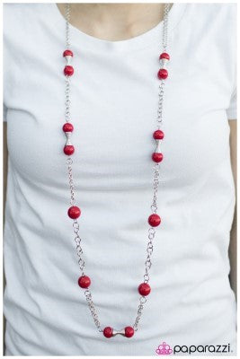 Commander in Chief - Red - Paparazzi necklace