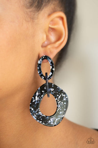 Confetti Congo-blue-Paparazzi earrings