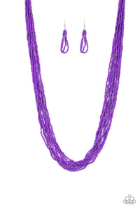Congo Colada - purple - Paparazzi necklace