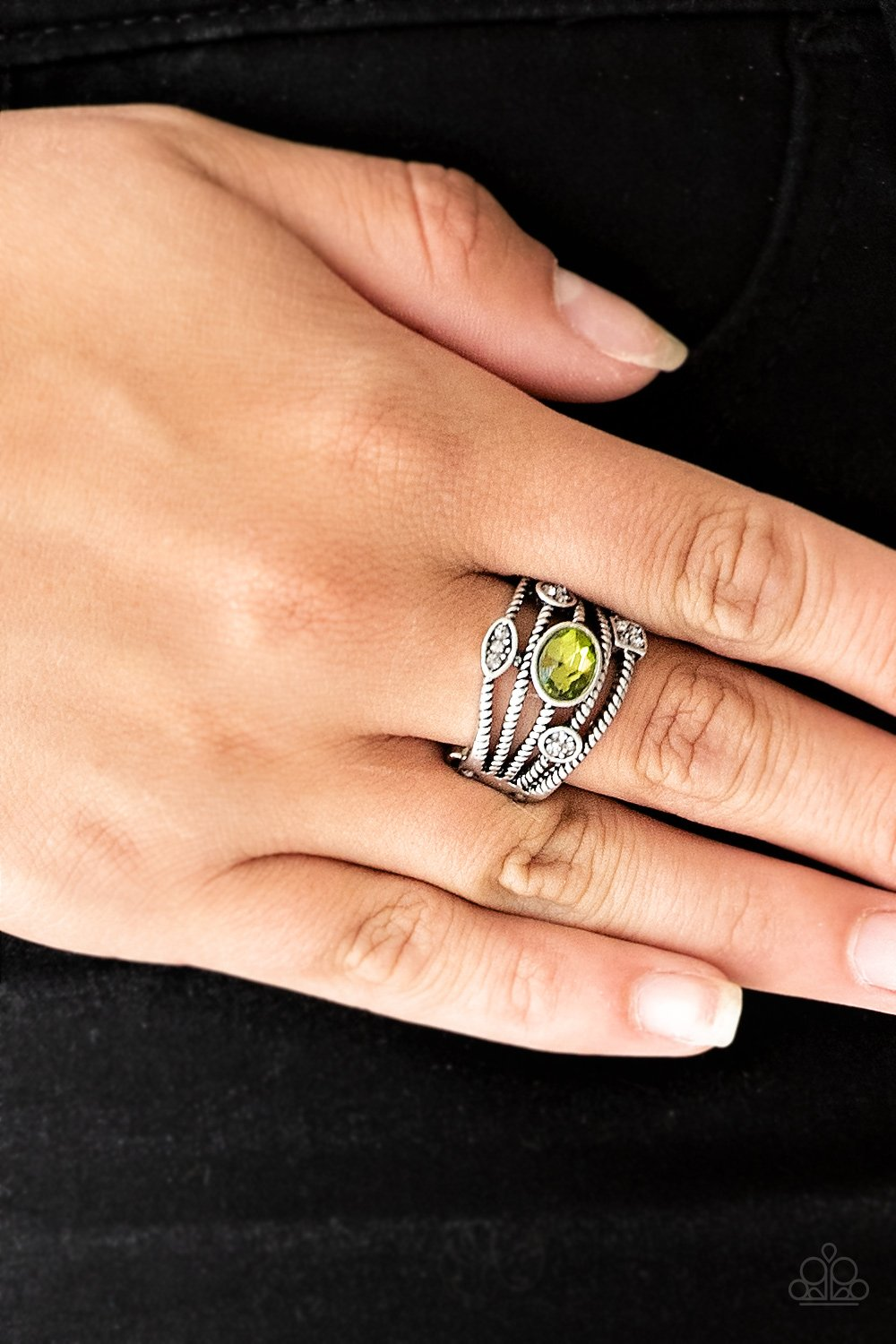 Cosmic Combo - green - Paparazzi ring