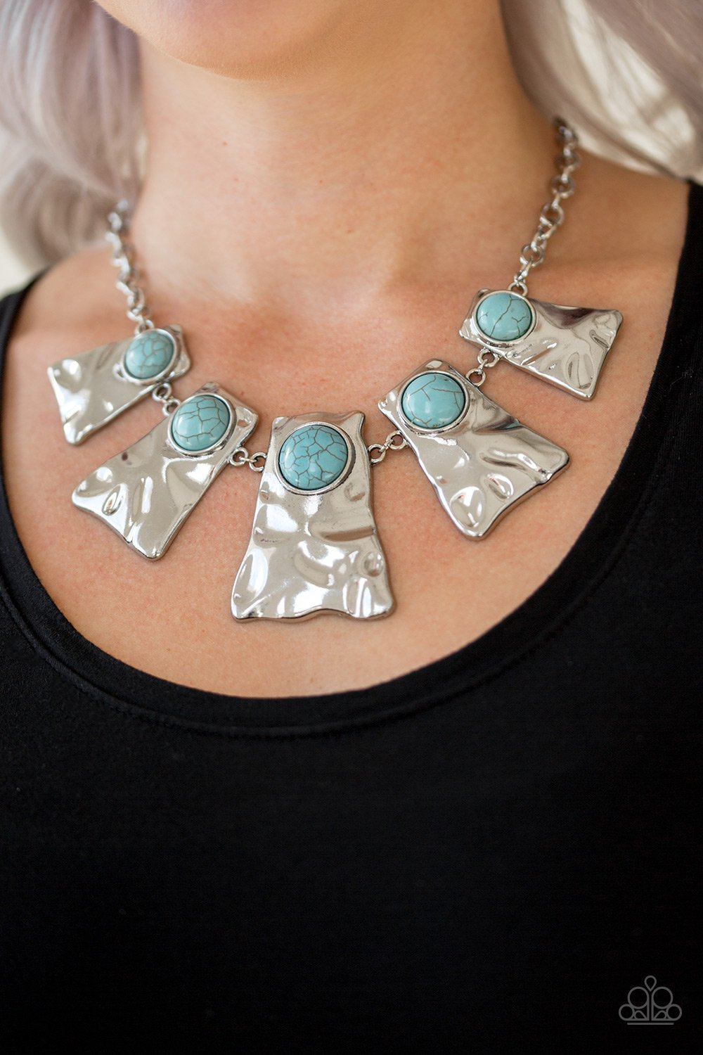 Cougar - blue - Paparazzi necklace