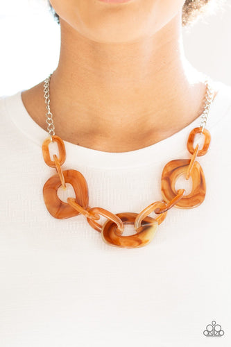 Courageously Chromatic - brown - Paparazzi necklace