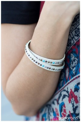 Cowgirl Up - white - Paparazzi bracelet