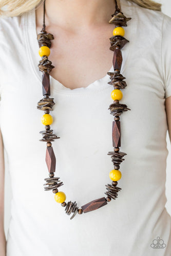 Cozumel Coast - yellow - Paparazzi necklace