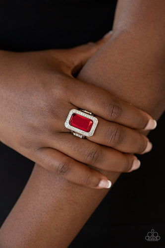 Crown Jewel Jubilee - red - Paparazzi ring