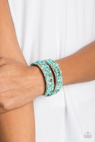 Crush to Conclusions - blue - Paparazzi wrap bracelet