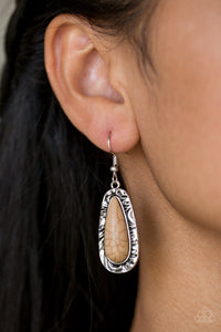 Crusin Colorado - brown - Paparazzi earrings