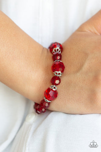 Crystal Collision-red-Paparazzi bracelet