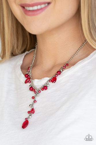 Crystal Couture-red-Paparazzi necklace
