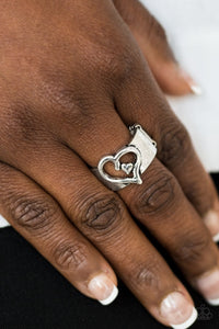 Cute as Cupid - silver - Paparazzi ring