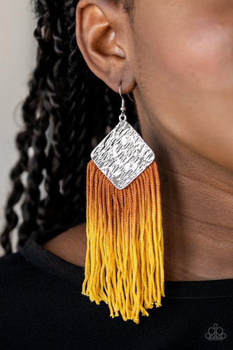DIP the Scales - yellow - Paparazzi earrings