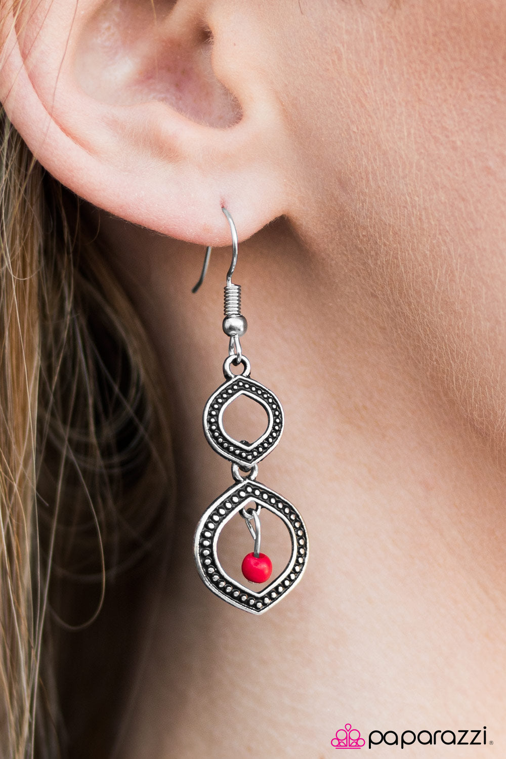 Dancing Genie - Red - Paparazzi earrings