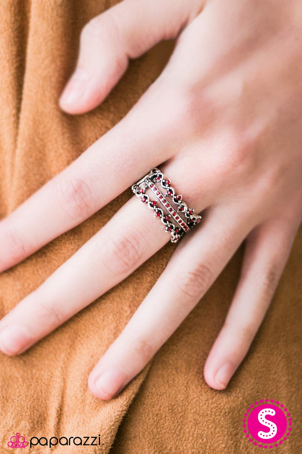Dancing Lights - Red - Paparazzi ring