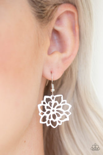 Darling Dahlia-silver-Paparazzi earrings
