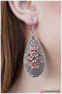 Day By Day - Red - Paparazzi earrings