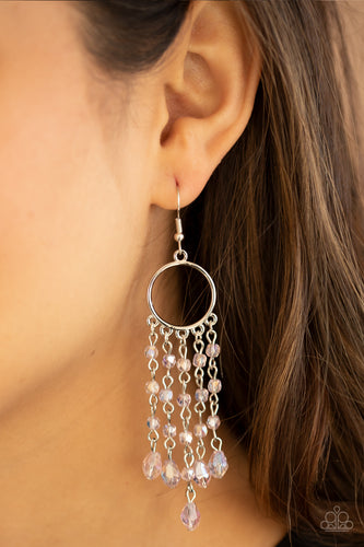 Dazzling Delicious - pink - Paparazzi earrings