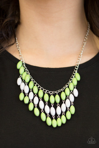 Delhi Diva - green - Paparazzi necklace