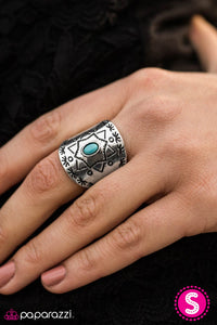 Desert Dweller - Blue - Paparazzi ring