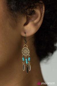 Desert Vibes - Brass - Paparazzi earrings