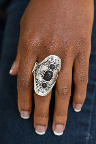 Desert Paint - black - Paparazzi ring