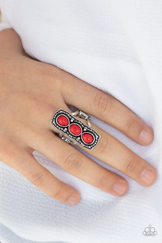 Desert Destiny-red-Paparazzi ring