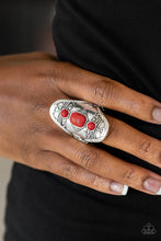 Load image into Gallery viewer, Desert Paint-red-Paparazzi ring