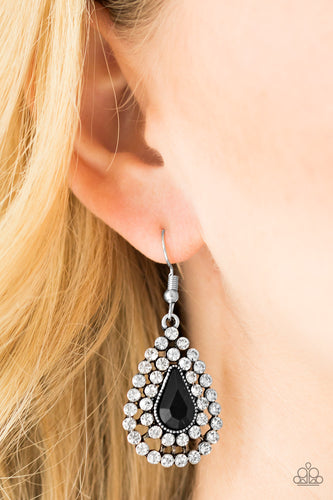 Diamond Dazzle - black - Paparazzi earrings