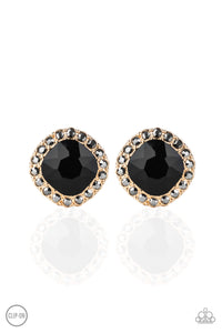 Diamond Duchess - gold - Paparazzi CLIP ON earrings