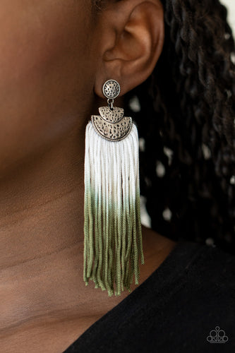 Dip It Up - green - Paparazzi earrings