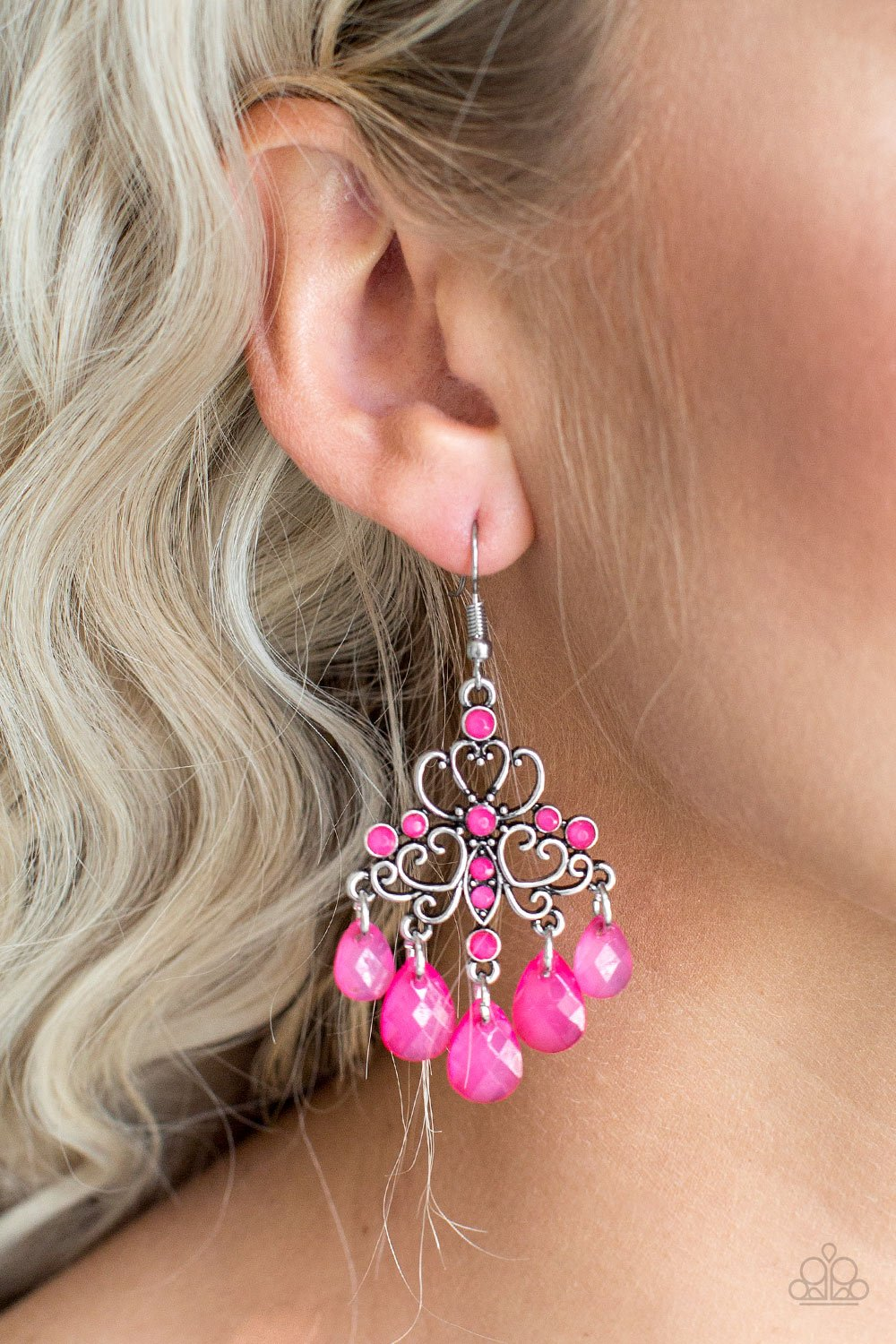Dip It GLOW-pink-Paparazzi earrings