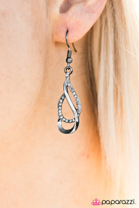 Dipped In Elegance - Black - Paparazzi earrings