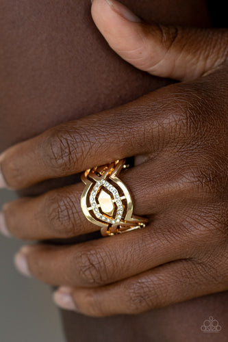 Divinely Deco - gold - Paparazzi ring
