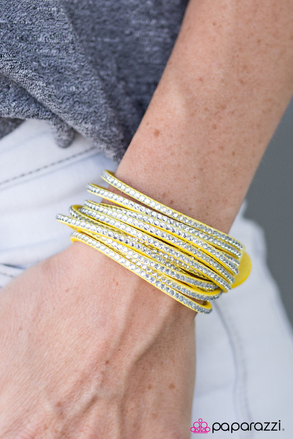 Do the Hustle - yellow - Paparazzi bracelet