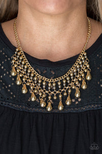 Dont Forget To BOSS - gold - Paparazzi necklace