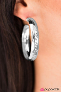Dont Give A HOOP - Silver - Paparazzi earrings