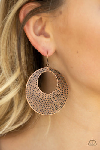 Dotted Delicacy-copper-Paparazzi earrings