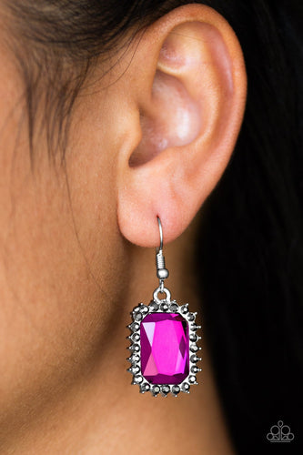 Downtown Dapper-pink-Paparazzi earrings