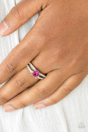 Dream Sparkle - pink - Paparazzi ring