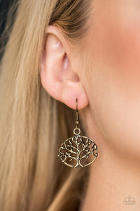 Dream Treehouse - brass - Paparazz earrings