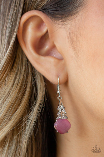 Dreamy Dazzle-pink-Paparazzi earrings