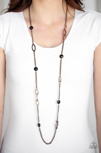 Duchess Dazzle-copper-Paparazzi necklace