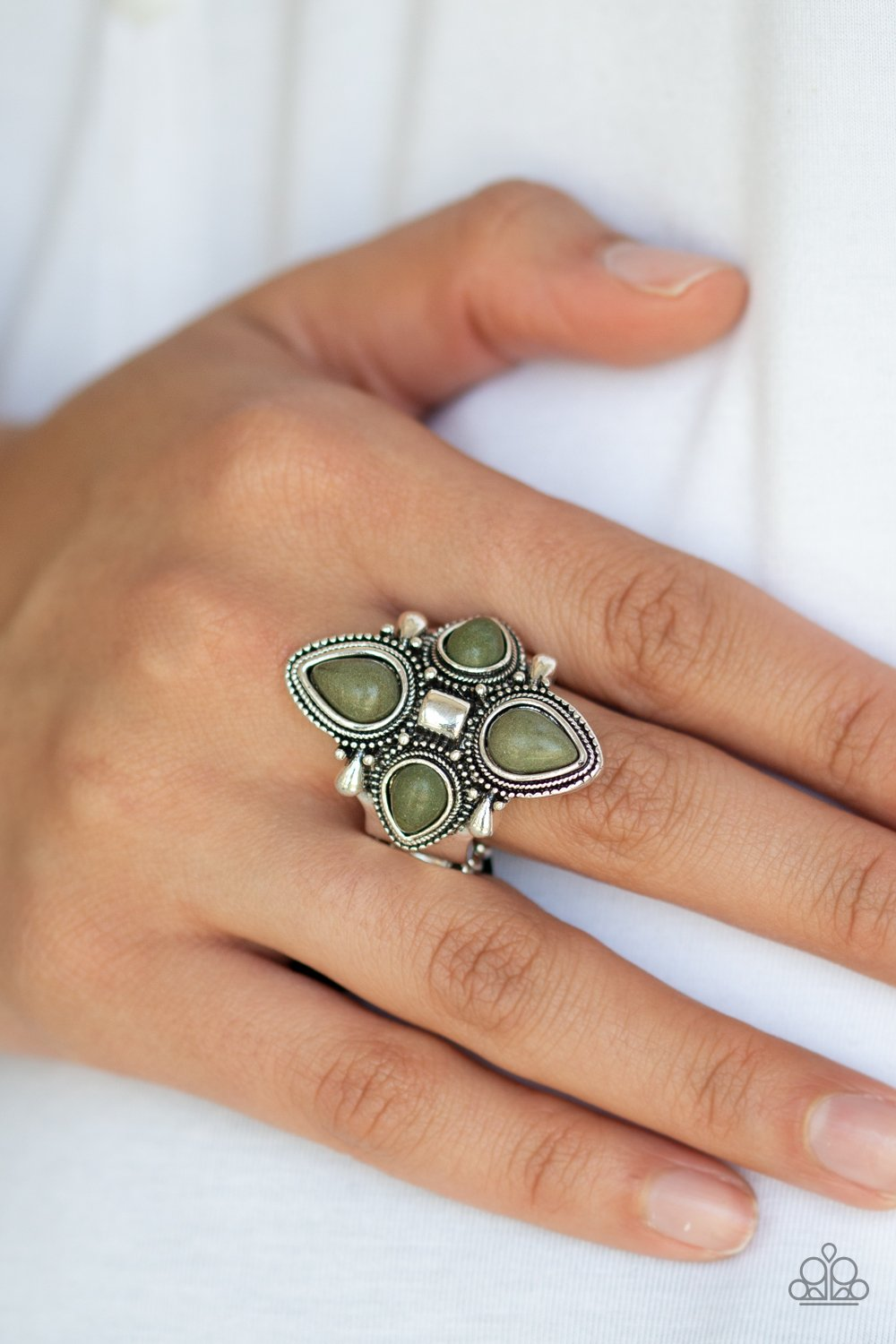Dune Runner - green - Paparazzi ring