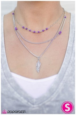 Early Bird - Purple - Paparazzi necklace