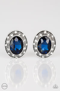 East Side Etiquette - blue - Paparazzi CLIP ON earrings