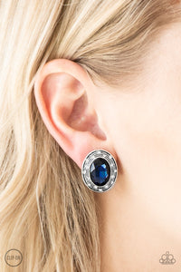 East Side Etiquette-blue-Paparazzi CLIP ON earrings