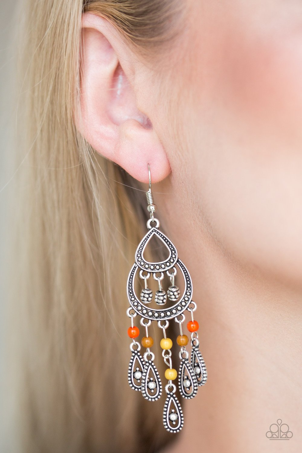 Eastern Excursion - multi - Paparazzi earrings