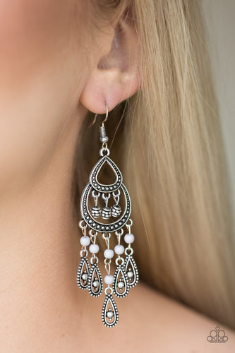 Eastern Excursion-silver-Paparazzi earrings