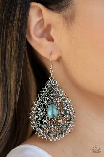 Eden Glow-blue-Paparazzi earrings